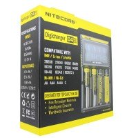 NiteCore oplader Digicharger D4 EU med display til AAA, AA, C