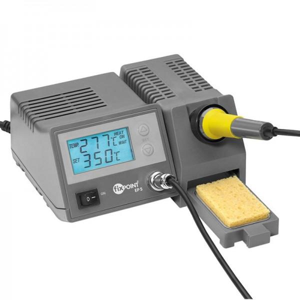 Digital lodning station med blå LED display, temperatur display