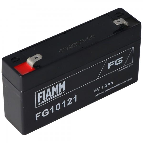 Fiamm FG10121 blygel batteri 6 volt, 1,2 Ah