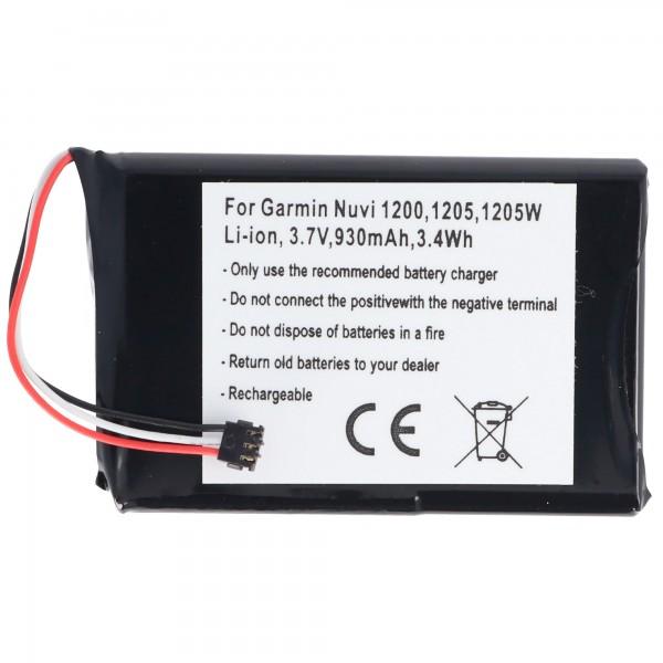 AccuCell batteri passer til Garmin Nuvi 1200, 361-00035-01