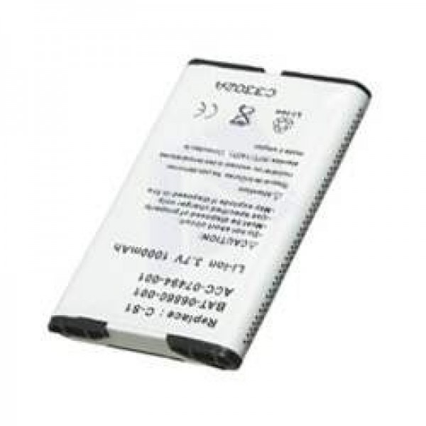 AccuCell batteri passer til RIM Blackberry 8705, 1000mAh