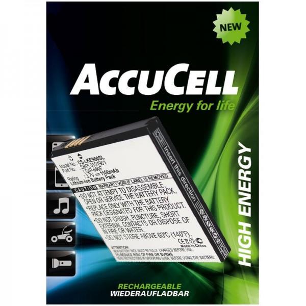 AccuCell batteri passer til LG Optimus 7, E900, C900, LGIP-690F