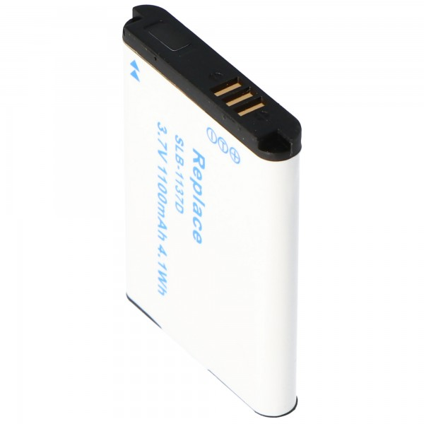 Batteri passer til Samsung SLB-1137D batteri med 1100mAh