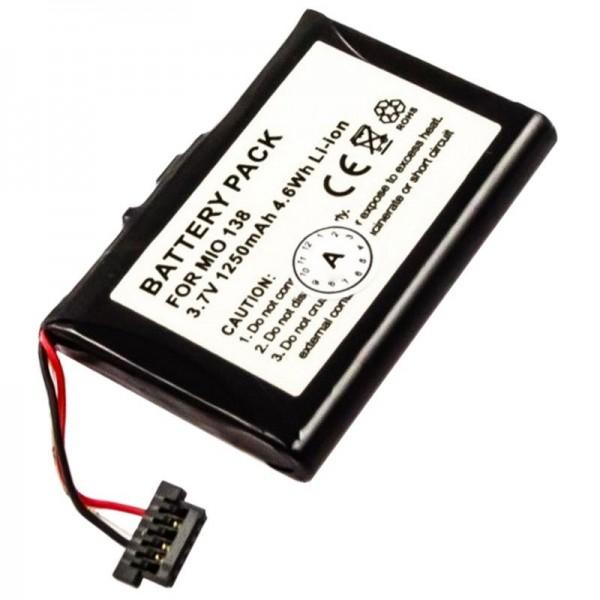 Batteri passer til Mitac Mio 138, Mio 268, Mio 269, Mio C 710