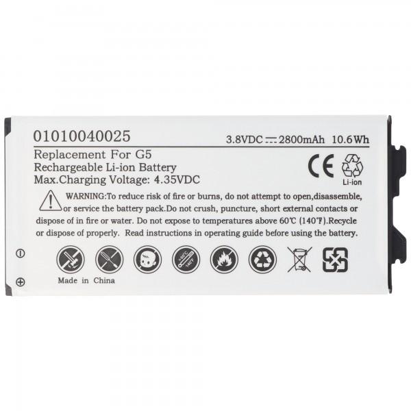 Batteri passer til LG G5 batteri BL-42D1F, EAC63238902AAC