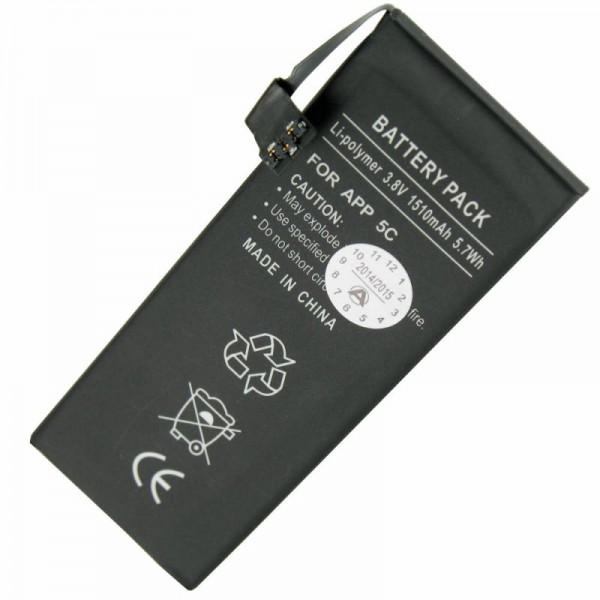 Batteri passer til Apple iPhone 5C Li-Polymer 616-0667 batteri, 616-0720 batteri