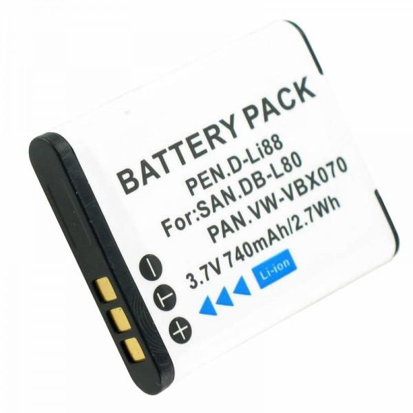 VW-VBX070, VW-VBX070GK, VW-VBX070-W Replica batteri fra AccuCell