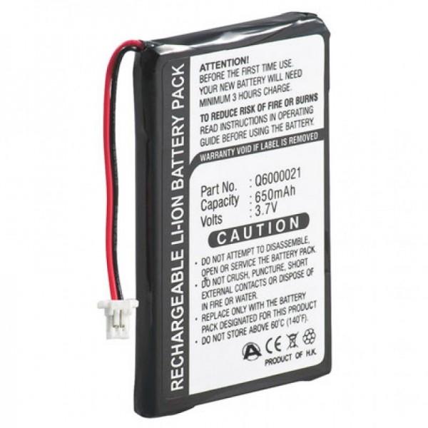 Batteri passer til TomTom GPS-9821X, Q6000021, 550mAh