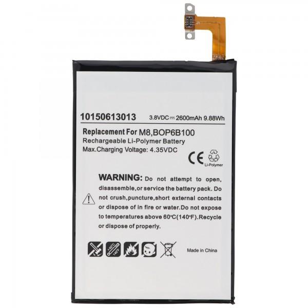 AccuCell batteri passer til HTC One M8 batteri 35H00214-00M, 35H00214-01M, B0P6B100, BOP6B100, M8S