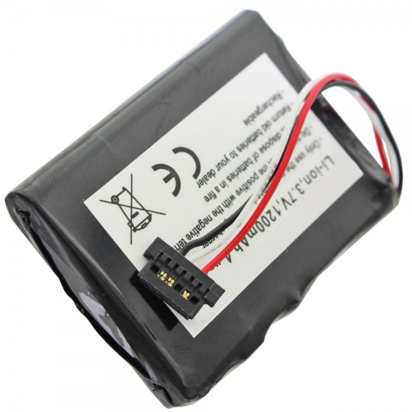 AccuCell batteri passer til Mitac Mio P350, P550, BP-LP1230
