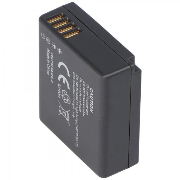 Batteri passer til Panasonic DMW-BLE9, LUMIX DMC-GF3, DMC-S6 serien