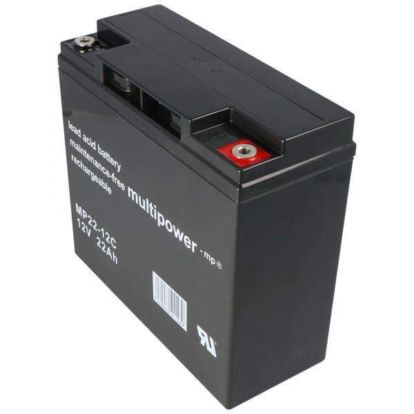 Yuasa YPC22-12 blybatteri med 12 volt og 22Ah