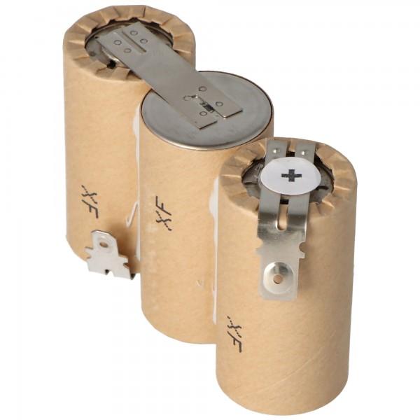 Batteri passer til Gardena ACCU60 med Faston 6.3 og 4.8mm, 2500mAh