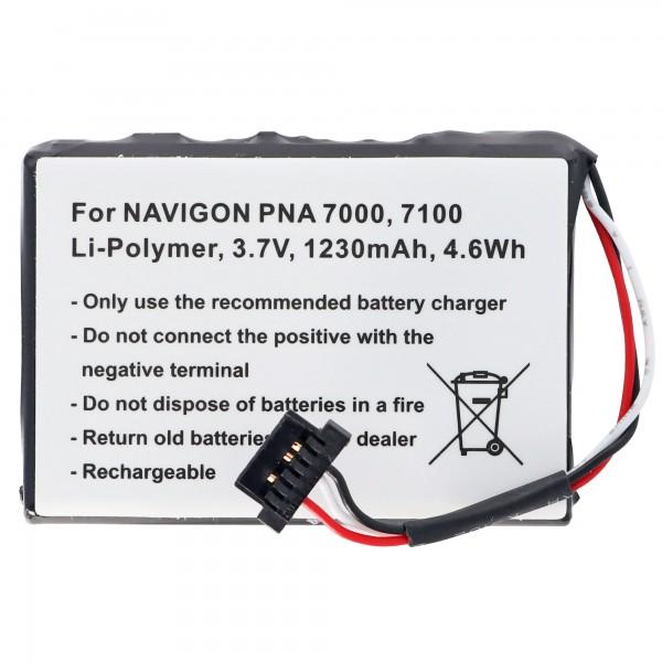 E4MT081202B22, PNA 7000, Navman N20, BP / LP1230 / 11 / A0001U Replica Batteri