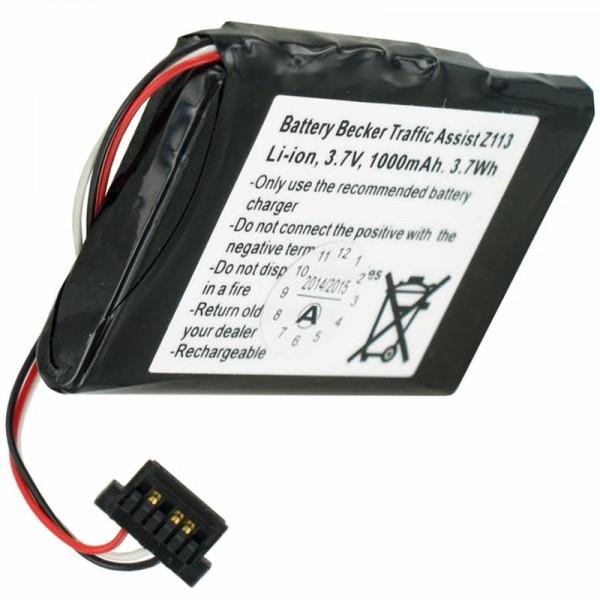 Batteri til Becker Z113 Batteri til Traffic Assist Z113 SJM120