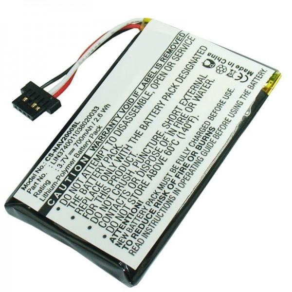 Navigon 20 Easy, 20 Plus batteri som udskifteligt batteri fra AccuCell batteri LIN3740011038020033
