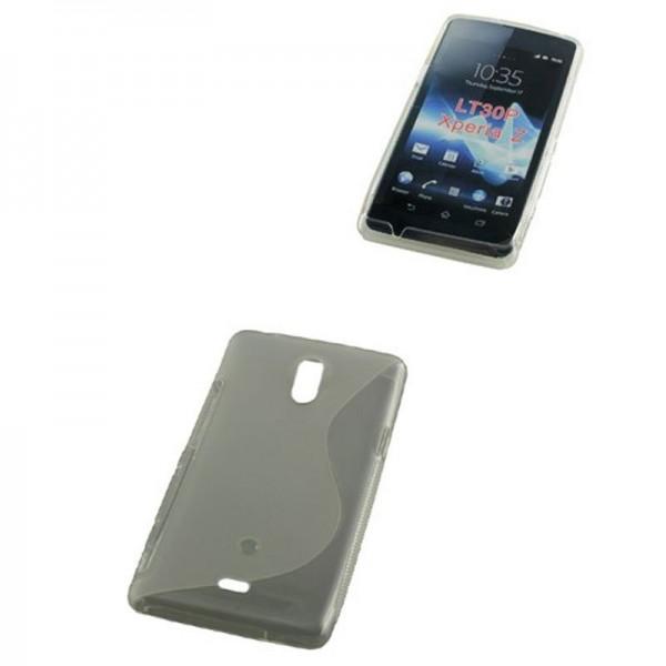 TPU Taske kompatibel med Sony Xperia Z S-Curve gennemsigtig