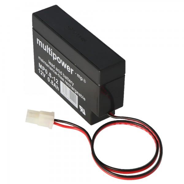 Fiamm FG20086 blybatteri med AMP stik 800mAh