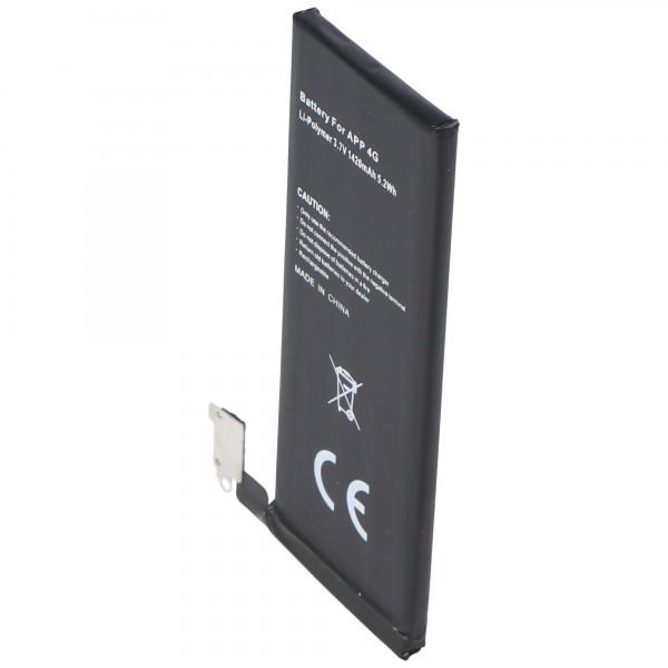 Batteri passer til Apple iPhone 4 batteri 616-0520, 616-0521
