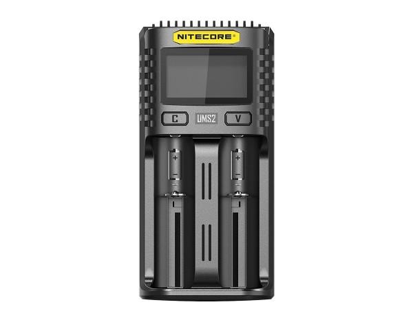 Nitecore UMS2 USB hurtig oplader QC 2.0 kompatibel til Li-Ion batterier