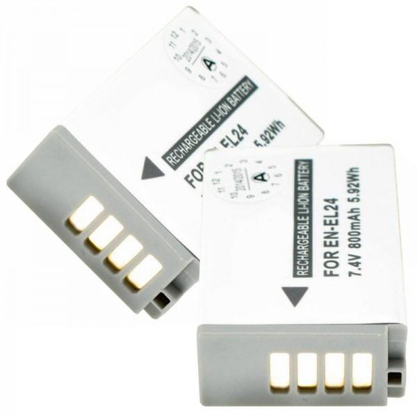 Batteri passer til Nikon EN-EL24 2-pack EN-EL24 Batteri til Nikon 1 J5