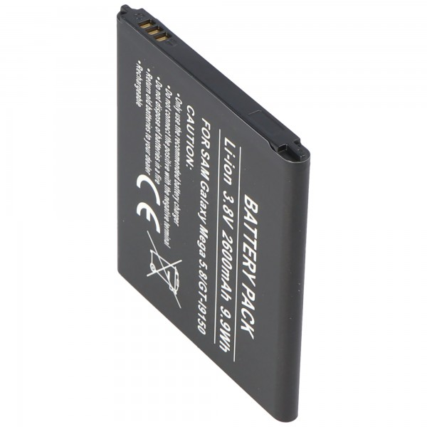 AccuCell batteri passer til Samsung Galaxy Mega 5.8, Galaxy GT-I9150