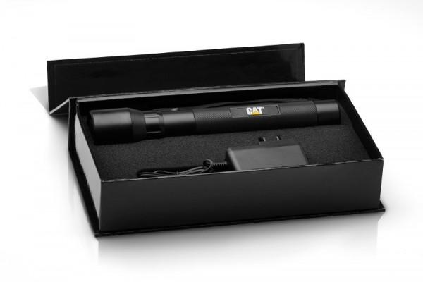 CAT CT12354P genopladelig LED lommelygte med 3W Cree LED inkl. Oplader