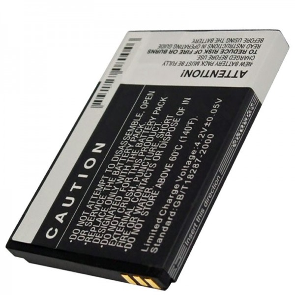 Bea-Fon S10 batteri, replikabatteri med 1000mAh kapacitet fra AccuCell