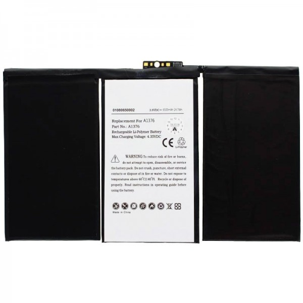 Batteri passer til Apple iPad 2-batteriet 616-0561, A1316, A1376, A1395, A1396, A1397
