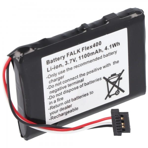 Batteri passer til Falk Flex 400 batteri BP-400H-11 / 1200MX