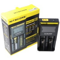 NiteCore oplader Digicharger D2 med display til AAA, AA, C
