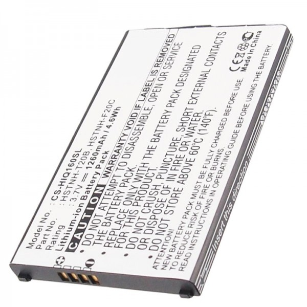 AccuCell Batteri passer til mobiltelefonbatteriet HP iPAQ Voice Messenger, HP Silverbatteri