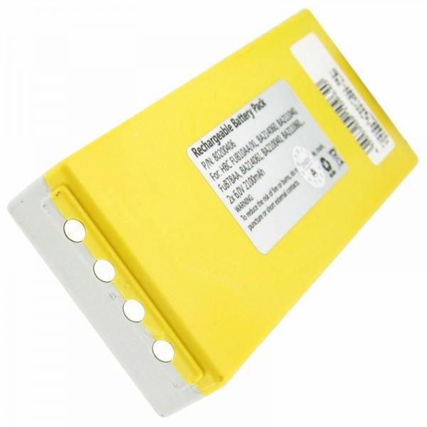 AccuCell batteri passer til HBC FuB10a batteri NM26C, BA211060, BA214061 NiMH 2200mAh