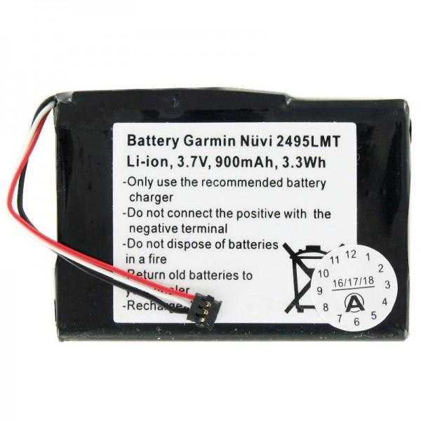 AccuCell batteri passer til Garmin Nuvi 2405 batteri 361-00035-03