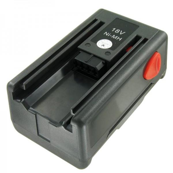 Batteri passer til Gardena 8834-20 med 18Volt Ni-MH, 1500mAh, 5788773-01
