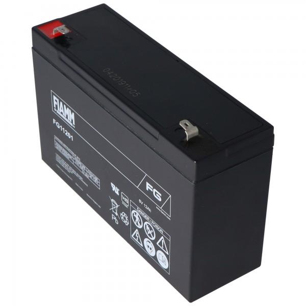 Fiamm FG11201 blybatteri 6 volt 12Ah