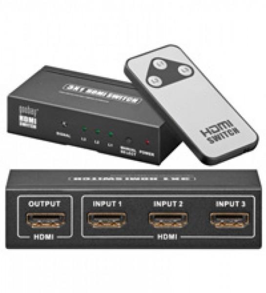 HDMI switch box med 3x input / 1x output