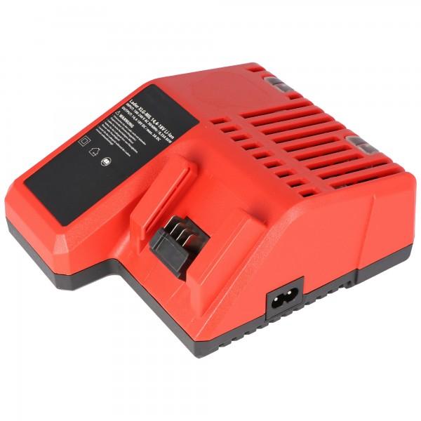 Hurtig oplader egnet til Milwaukee M18 batteriet, oplader 14,4 volt til 18,0 volt Li-ion batteri