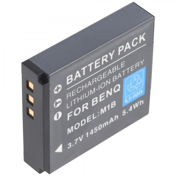 Praktica DVC 10.1 HDMI batteri fra AccuCell med 3,7 Volt, 1250mAh