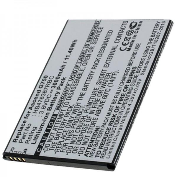 Batteri passer til Huawei Ascend G750 batteri G750-T00, B199, Glory 4, Honor 3X