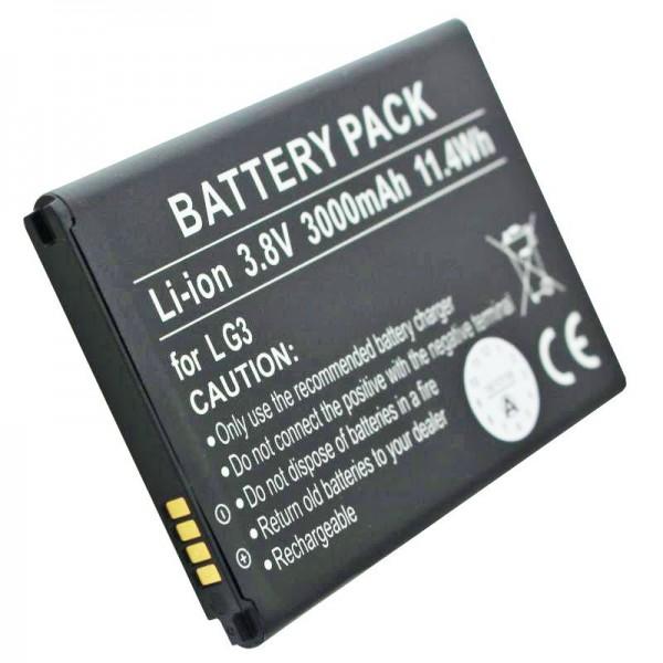 Batteri passer til LG batteri D855, D858, G3, VS985, BL-53YH batteri