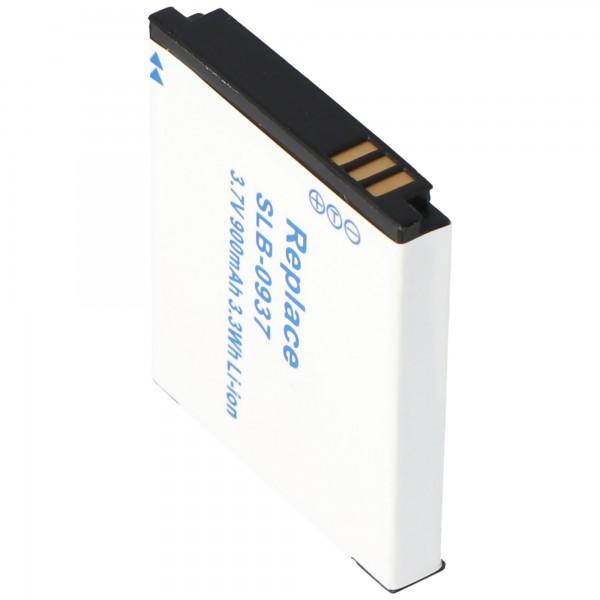 AccuCell batteri passer til Samsung SLB-0937, 900mAh