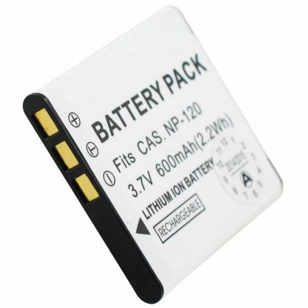 Batteri passer til Casio NP-120 batteri EXILIM EX-S200
