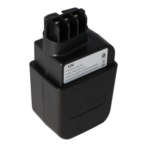 AccuCell batteri passer til Metabo 630073 batteri 12Volt 3.0Ah NiMH