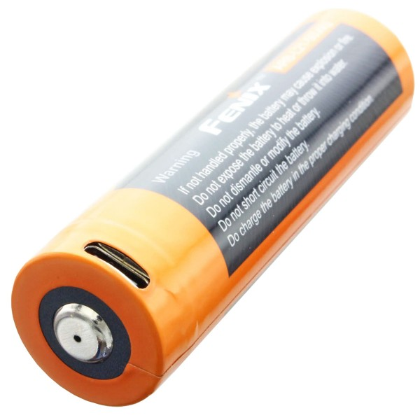 21700 USB Li-ion-batteri Fenix ARE-L21-5000U 21700 Dimensioner 76x21,5mm, max. 8A