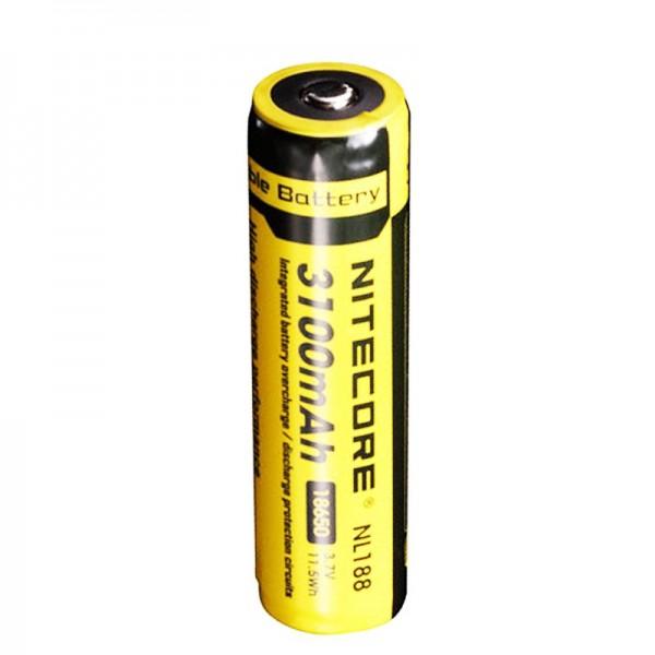 NiteCore 18650 Li-ion batteri til LED-lygter NL188 med 3100mAh