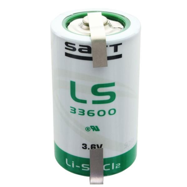 SAFT LS33600 Lithiumbatteri 3.6V Primær med loddetråd U-form