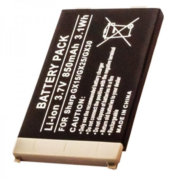 AccuCell batteri passer til Sharp GX15, GX25, GX30, GX30i, 850mAh