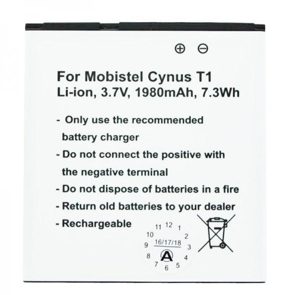 MOBISTEL Cynus T1 batteri som replik af Accucell egnet til BTY26179, BTY26179MOBISTEL / STD