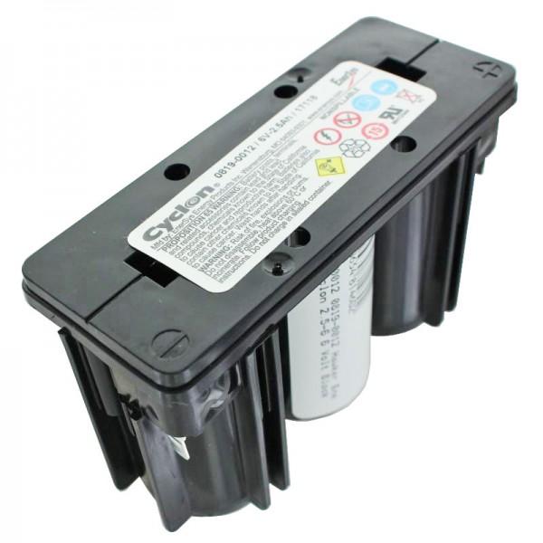 0819-0012 Hawker Energy Cyclon 2,5-6 6 Volt Blok Batteri 0819-1006 6V 2500mAh